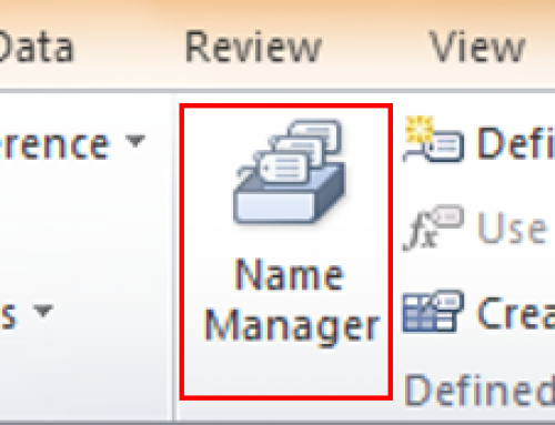 Modifying a Range Name in Microsoft Excel