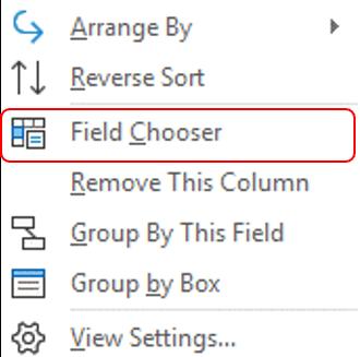 field chooser