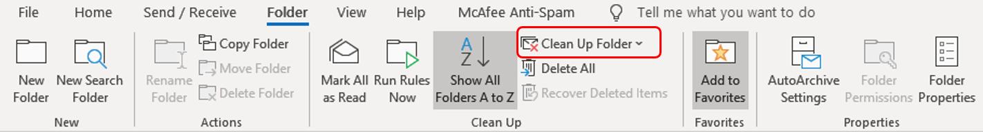 clean up folder