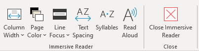 Microsoft Word Immersive Reader